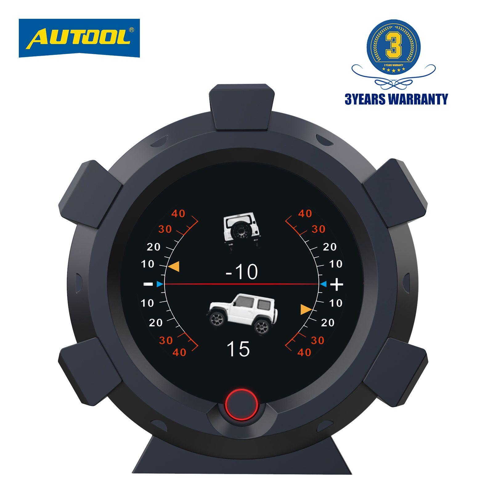 Автомобильный Инклинометр AUTOOL X95 4x4, обеспечивает угол наклона, скорость, Спутниковое время, GPS, аксессуары для внедорожников, Многофункцион...