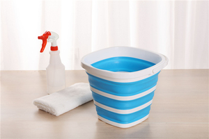 Image 2 - 10L Folding Silicone Bucket Camping Car Washing Buckets Household Cleaning Tool Collapsible Kitchen Square Large Capacity Bucket