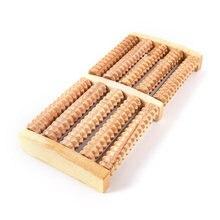 Струйное 1 шт деревянный массажный ролик для ступней игрушка