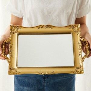 Ретро Зеркало лоток Европейский стиль декоративная фотосъемка небольшие аксессуары для INS Фотография реквизит для фотостудии Фон для фотосъёмки     