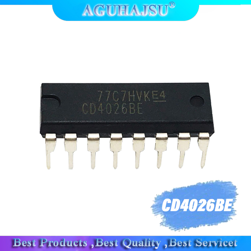 1PCS CD4026BE DIP CD4026 DIP16 new and original IC Inline decimal count/divider image