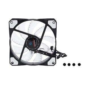 Светодиодный вентилятор для компьютера с 15 лампами, чехол с радиатором, охлаждающий вентилятор постоянного тока 12 В 4P 120*120*25 мм, белый цвет
