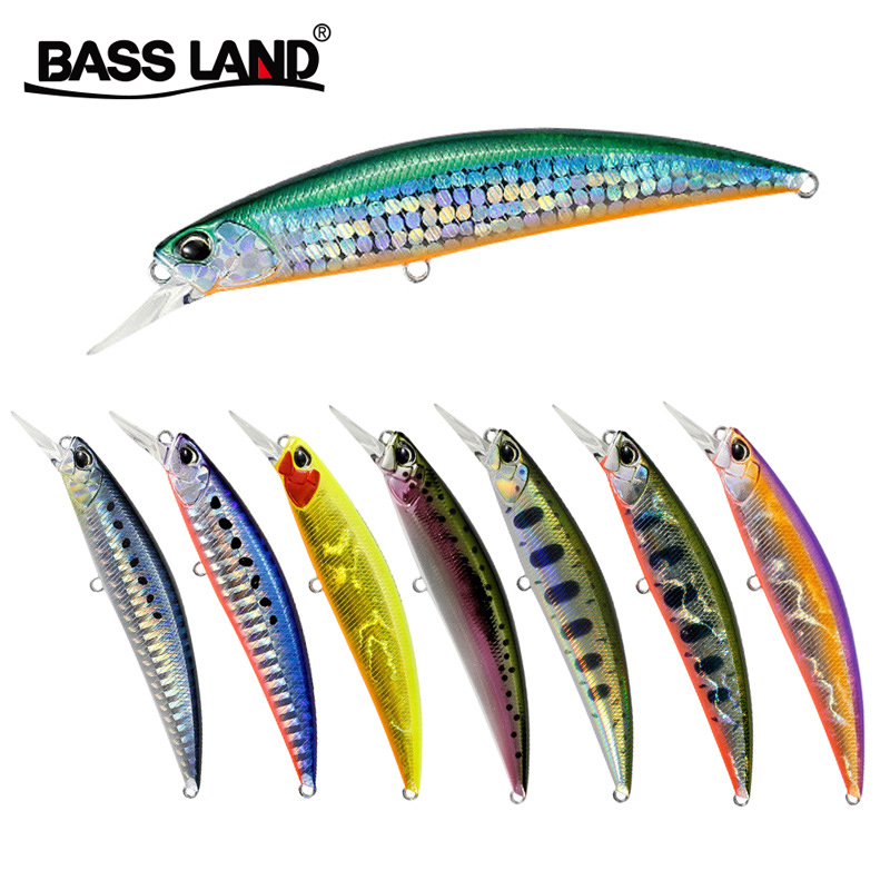 Bassland Sinking Minnow Lures 95mm 16g Professional Fishing Bait Casting Hard Lures Fishing Tackle Pesca