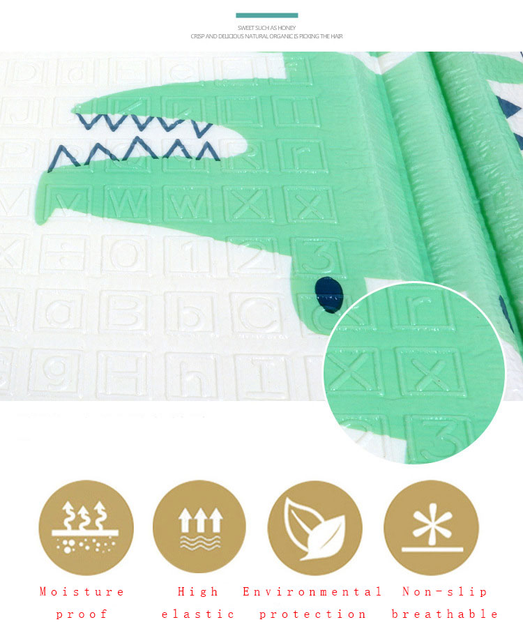 Ha32fdc373ecd4cdc828baa928987309e2 200*180cm  Foldable Cartoon Baby Play Mat Xpe Puzzle Children's Mat Baby Climbing Pad Kids Rug Baby Games Mats