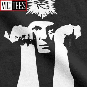Aleister Crowley Мужская футболка Волшебная соломоновая Волшебная оккультная футболка Wicca Demon Pagan 100% хлопок