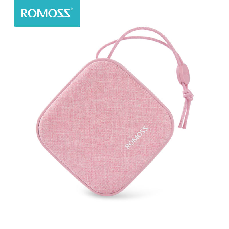 ROMOSS LC10 Style Power Bank 10000mAh Candybox 18650 Dual USB Fabric Portable Charger With Hanging Ring For IPhone Xiaomi Huawei