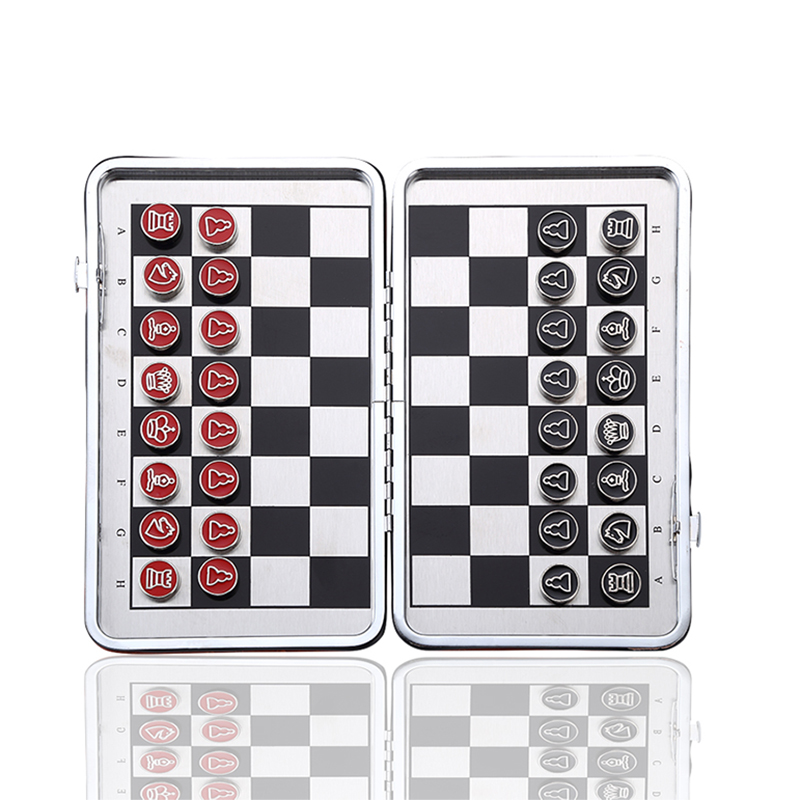 Leather Foldable Chessboard Magnetic Chinese Set Chess Pieces Travel Board Games Intellectually Development Backgammon Gifts