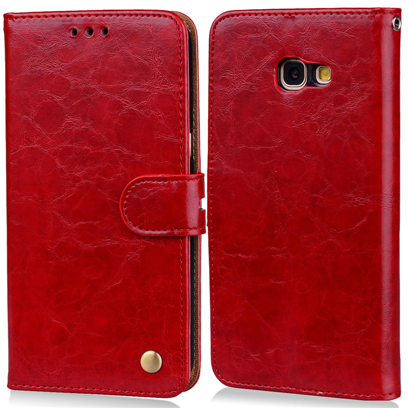 Luxury Leather Wallet Case For Samsung Galaxy A5 2017 Stand Card Holder Case For Samsung A 5 2017 Magnetic Skin Flip Phone Cover