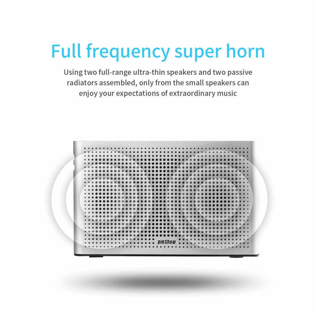 ステレオポータブルワイヤレス CSR4.0/aux 入力スピーカー 8 ワット内蔵マイクハンズフリー通話 3.5 ミリメートル AUX 再生 120 20hz の-20 KHz