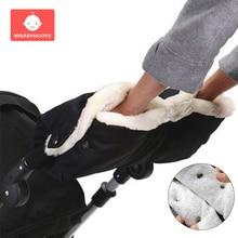 warm baby winter stroller gloves fur fleece thickened antifreeze hand cover waterproof buggy pram accessories