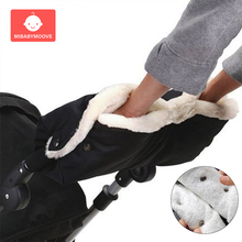 warm baby winter stroller gloves fur fleece thickened baby stroller antifreeze hand cover waterproof baby buggy pram accessories