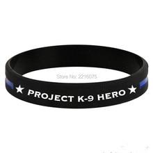 300 шт проект K9 Hero тонкая Голубая линия фирменный браслет силиконовые браслеты dhl A