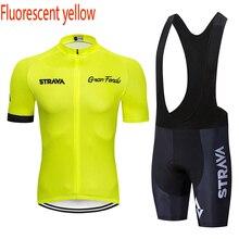 Одежда STRAVA для велоспорта, короткий рукав, набор, быстросохнущая Мужская одежда для велоспорта, летняя одежда для велоспорта, комплекты из Джерси для горного велосипеда, шорты, костюм
