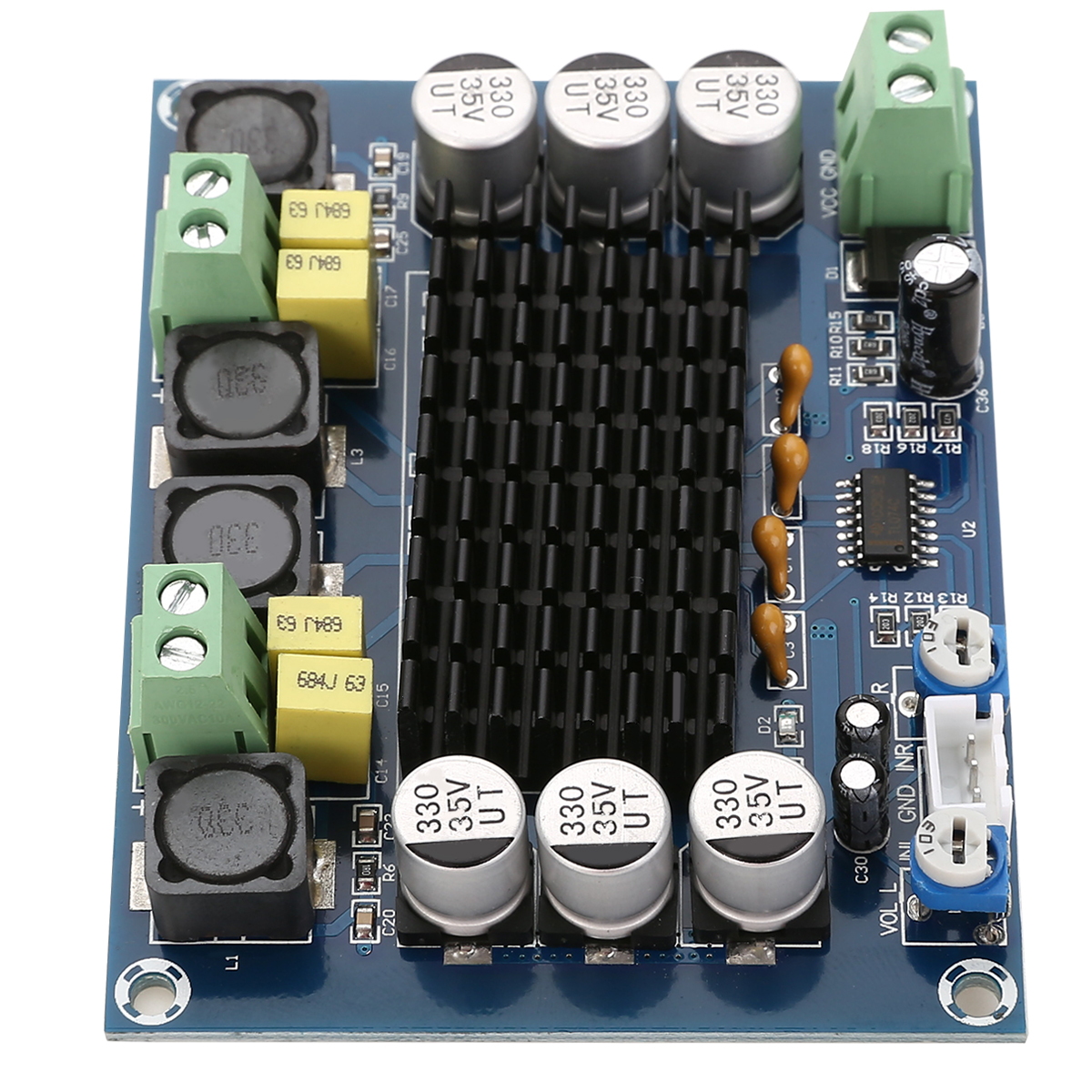 TPA3116 Digital Amplifier Board D2 120W 120W Dual Channel Stereo Speaker AMP Boards For Audio DC12 26V Mayitr in Headphone Amplifier from Consumer Electronics