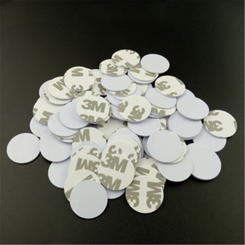 5/10PCS 25mm 125Khz RFID Tags EM4305 T5577 Writable Stickers Proximity Cards Rewritable 3M glue Adhesive Label For RFID Copier