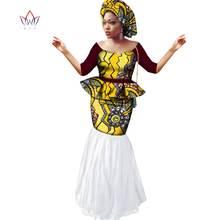 Платье с принтом в стиле Дашики комплект из топа и юбки на заказ