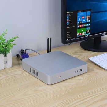 Fan Mini PC 7th Gen Intel Core i7 7100U 7200U 7500U Desktop HTPC Nuc HDMI VGA 6*USB WiFi Office Computer