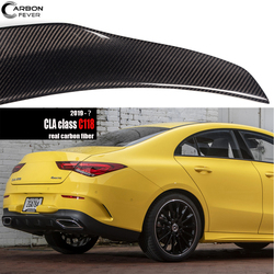 High-Kick 3* 3K Twill Carbon Fiber Rear Boot Spoiler for Mercedes 2019+ CLA Class 4-Door Sedan (C118) UV-Cut