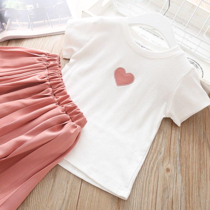Ha330a4f2edd64255a803071db9fde1231 Humor Bear Girls Clothing Set 2020 Korean Summer New Ice Cream Bow T-shirt+Pants Kids Suit Toddler Baby Children's Clothes