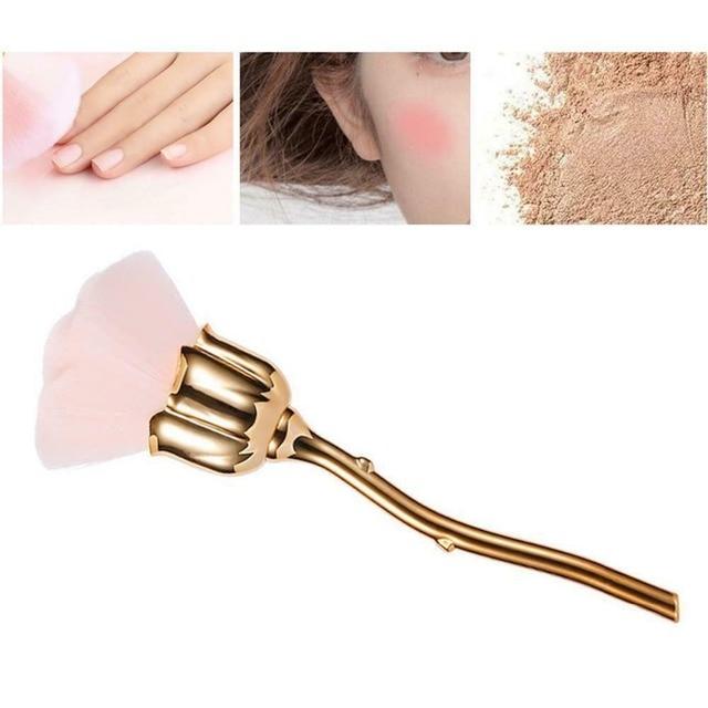 Дизайн ногтей кисть для удаления пыли маникюра rose головка