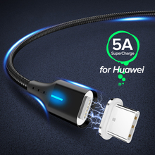 5A Magnetic USB Cable Micro USB Type C Fast Charging Data Charge Cable For iPhone Samsung Xiaomi Huawei USB C Mobile Phone Cable universal 3 in 1 mobile cable micro usb type c fast charging charger cable for iphone 6s huawei samsung xiaomi charge usb c cord