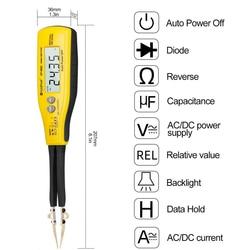 Цифровой измеритель емкости 990C SMD для диодов, измеритель емкости, сопротивления, измеритель, тестер батареи с запасным испытательным штифто...