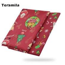 Teramila Рождественская елка печатные ткани для одежды 100%