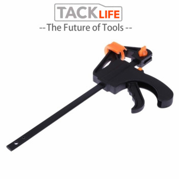 TACKLIFE 4/6/8/10/12 inch Quick Ratchet Release Speed Squeeze Wood Working Bar F Type Clamp Fixture Grip Woodworking Clip uneefull 6 34 inch quick ratchet release speed squeeze wood working work bar clamp f clip spreader gadget tool diy hand tools