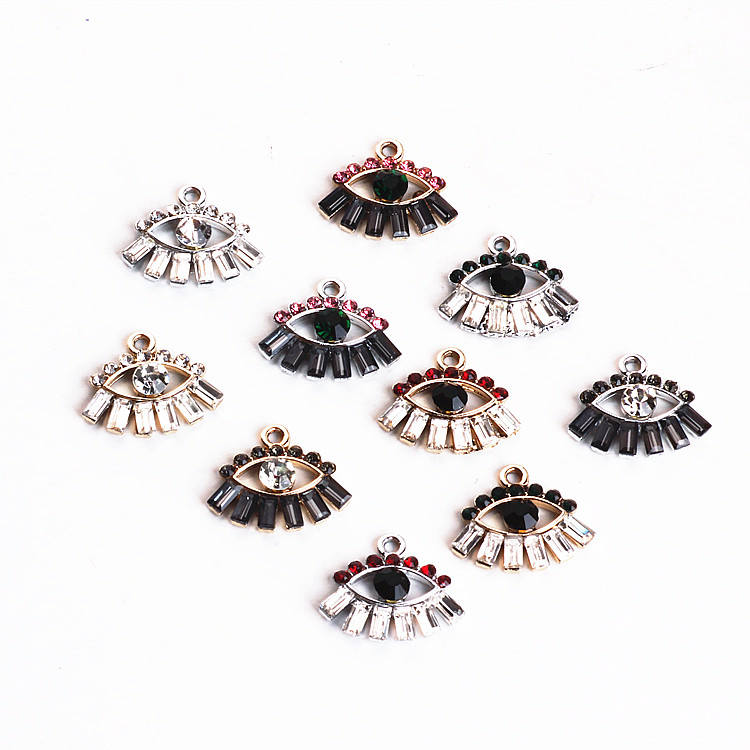 DIY Ear Accessories Alloy European and American Temperament Shining Diamond Eye Earrings Bracelet Necklace Pendants