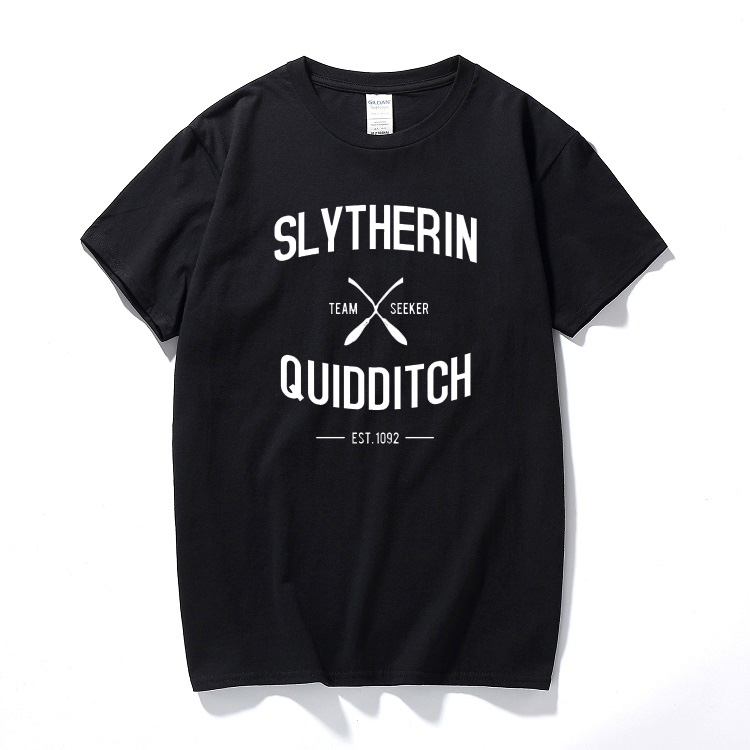Camisetas Hombre Tee Shirt Slytherin Quidditch Team T Shirt Casual Brand Printed Shirts Cotton Short Sleeve T-shirt Summer Tops