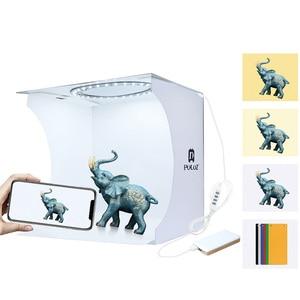 Image 2 - Portable Photo studio Box Set with LED Ring Light Small Photo Props Equipment Studio Shooting Tent Kit mini folding light box