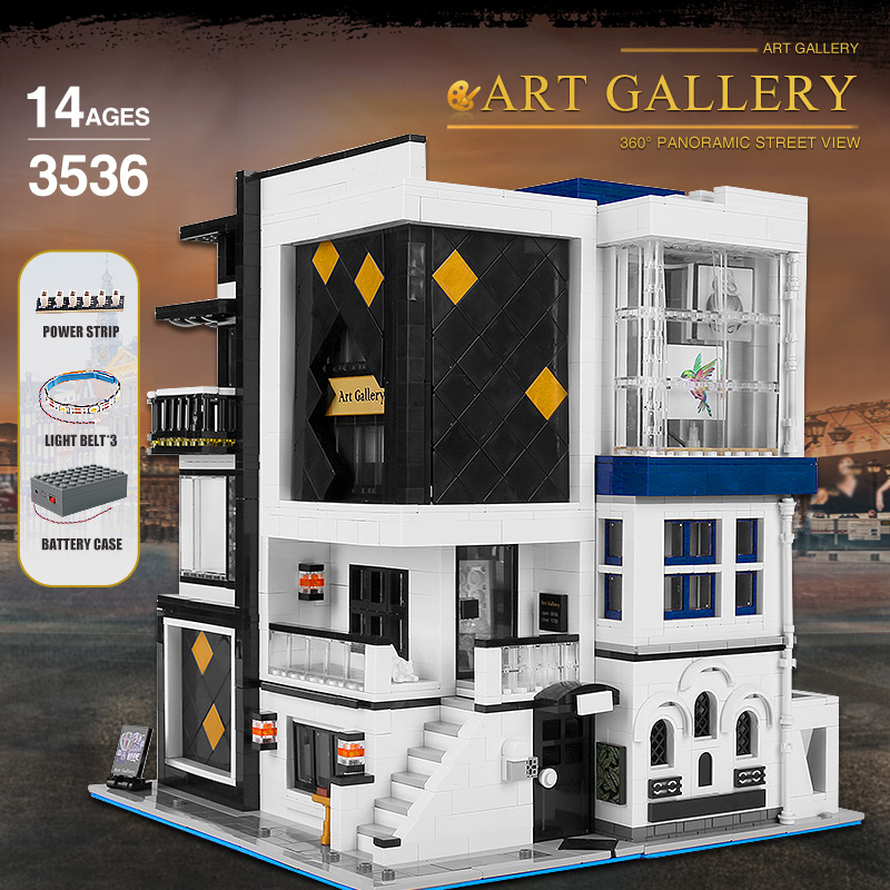MOULD KING 16043 The MOC-67005 Art Gallery Showcase With Led Parts