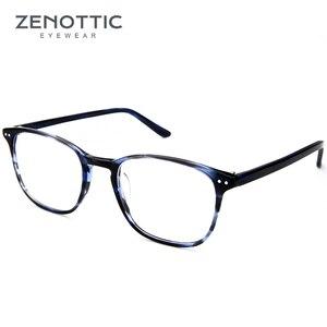 Image 4 - ZENOTTIC Retro Acetate Square Glasses Frames for Women Men Unisex Myopia Optical Eyewear Frames Prescription Eyeglasses