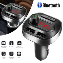 Автомобильный комплект Bluetooth Handsfree беспроводной fm-передатчик ЖК MP3-плеер USB зарядное устройство 3.1A автомобильные аксессуары авто fm-модулятор
