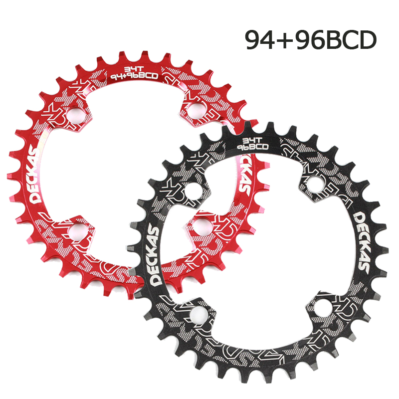 96BCD-S 32-38t  Narrow Wide Teeth Round Oval Chainring MTB Bike Chainwheel Bolts
