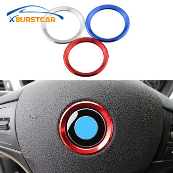 Car Steering Wheel Center Ring Cover Trim Sticker Fit for BMW 1 3 4 5 7 Series M3 M5 GT3 E81 E87 F30 34 F10 GT5 X1 X3 X5 X6 image