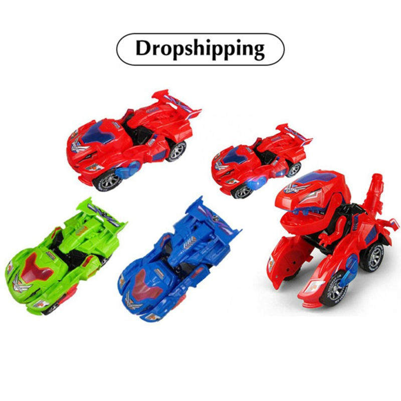 New Dinosaur Transformed Electric Toy Car General Wheeled Robot Refitting Car Children's Gift Lamp