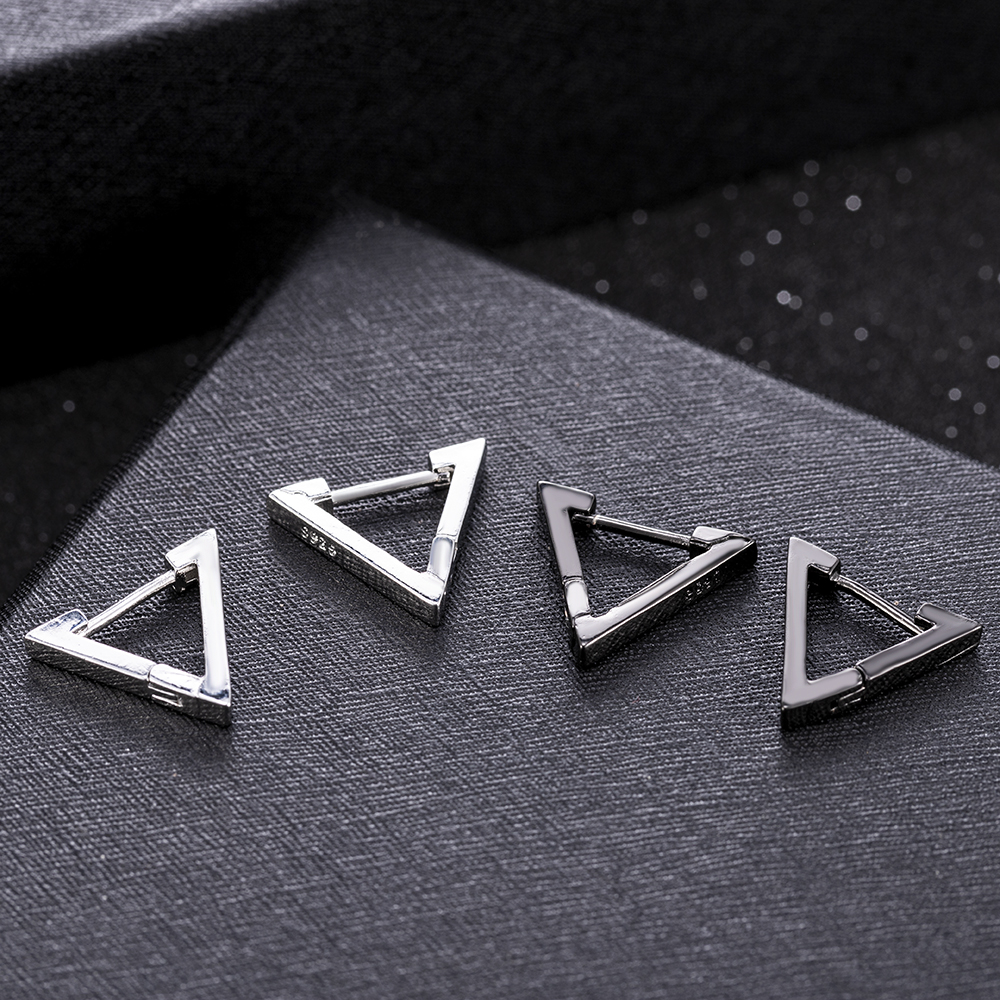 2020 New Fashion Creative Geometric Men Women Triangle Earrings Black Gifts Aretes De Mujer Modernos