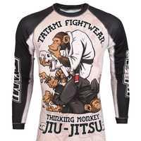 Mma affe muster training Boxing trikots tiger muay thai jiu jitsu t hemd mma kleidung könig boxen sauna anzug mma kompression