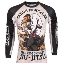 mma monkey pattern training Boxing jerseys tiger muay thai jiu jitsu t shirt mma clothing king boxing sauna suit mma compression(China)