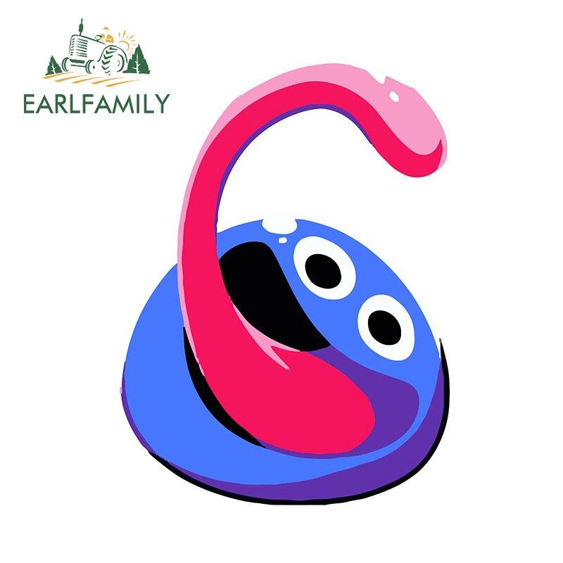 Earlfamily 13cm x 9.8cm para os desenhos animados pegajosos adesivo de carro à prova de riscos decalque geladeira prancha personalidade vinil carro envoltório