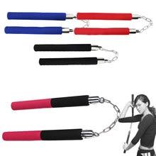Arma de espuma de metal para iniciantes, espuma de metal prática, artes marciais, durável, nunchakus, arma, seguro, esponja chinesa