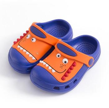 2-18y Kids Mules & Clogs Summer Baby Toddler Boys And Girls Croc Sandals Cartoon Dinosaur Slippers Children's Garden Shoes H19 - As picture, 19