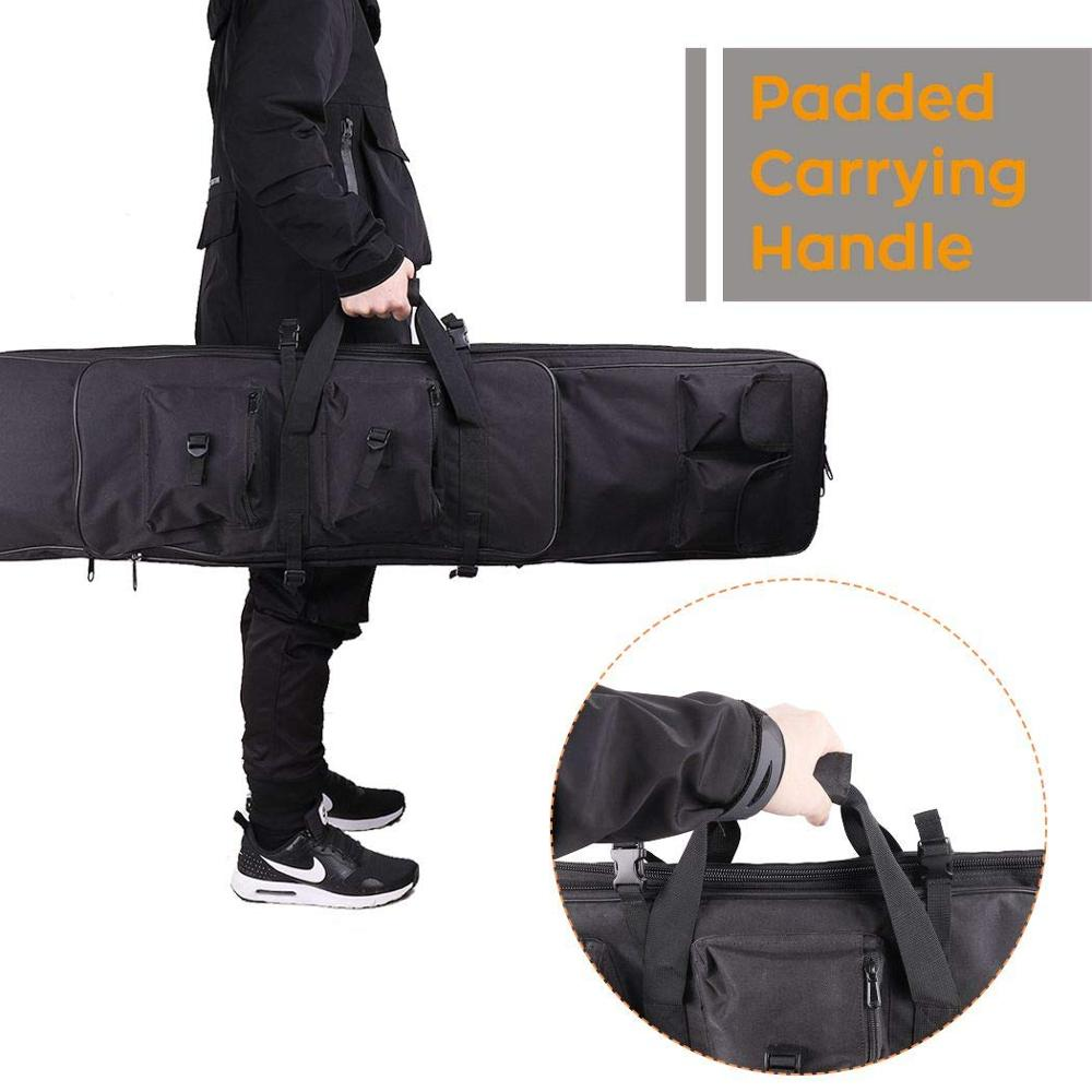 "47"" 120CMDouble Carbine Rifle Bag Carbine Case Soft Case Gun Bag Adjustable Backpack Carrying Handle Gun Bag for Shooting