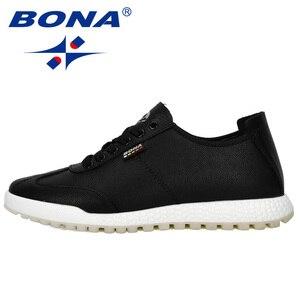 Image 5 - BONA 2019 Phong Cách Mới Vulcanize Giày Nam Sneakers Cổ Không Trượt Thắt Dây Đeo Chống Giày Tenis masculino Giải Trí Giày