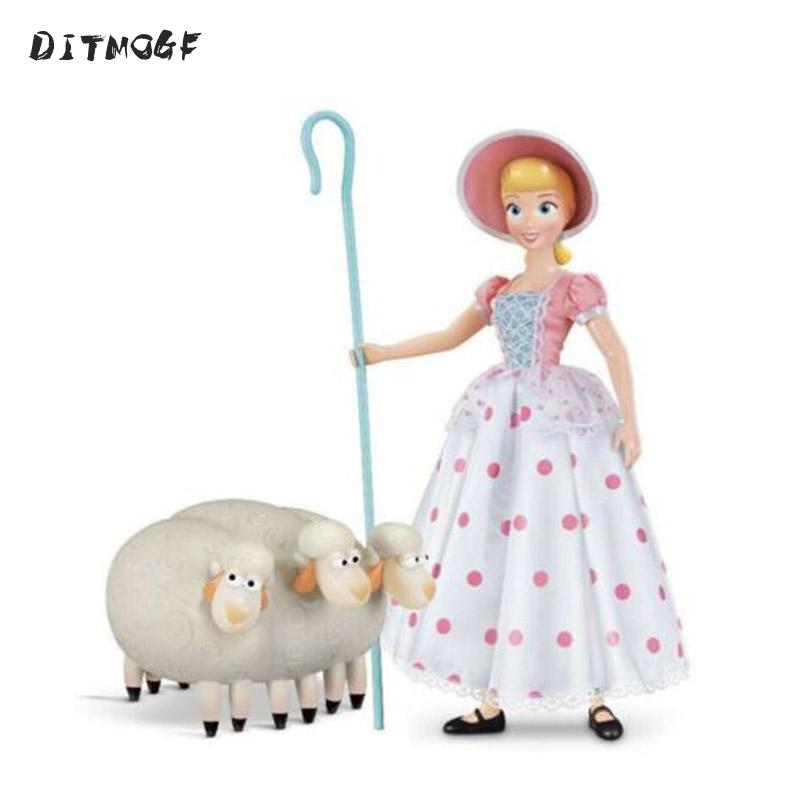 1piece 8cm Toy Serise 4 Bo Peep Woody Dog PVC Action Figure Toy Woody's Shepherdess Figures Model Doll
