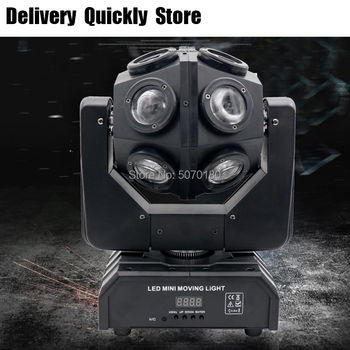 Show Time Unlimited Rotate Dj Led 12Pcs 10W RGBW 4 IN 1 Moving Head Light Good Effect Use For Disco Party KTV Night Club Bar 2pcs lot 4 in 1 led bar 7 10w moving head light rgbw 7 leds disco wash nightclub rainbow effect projector for wedding show