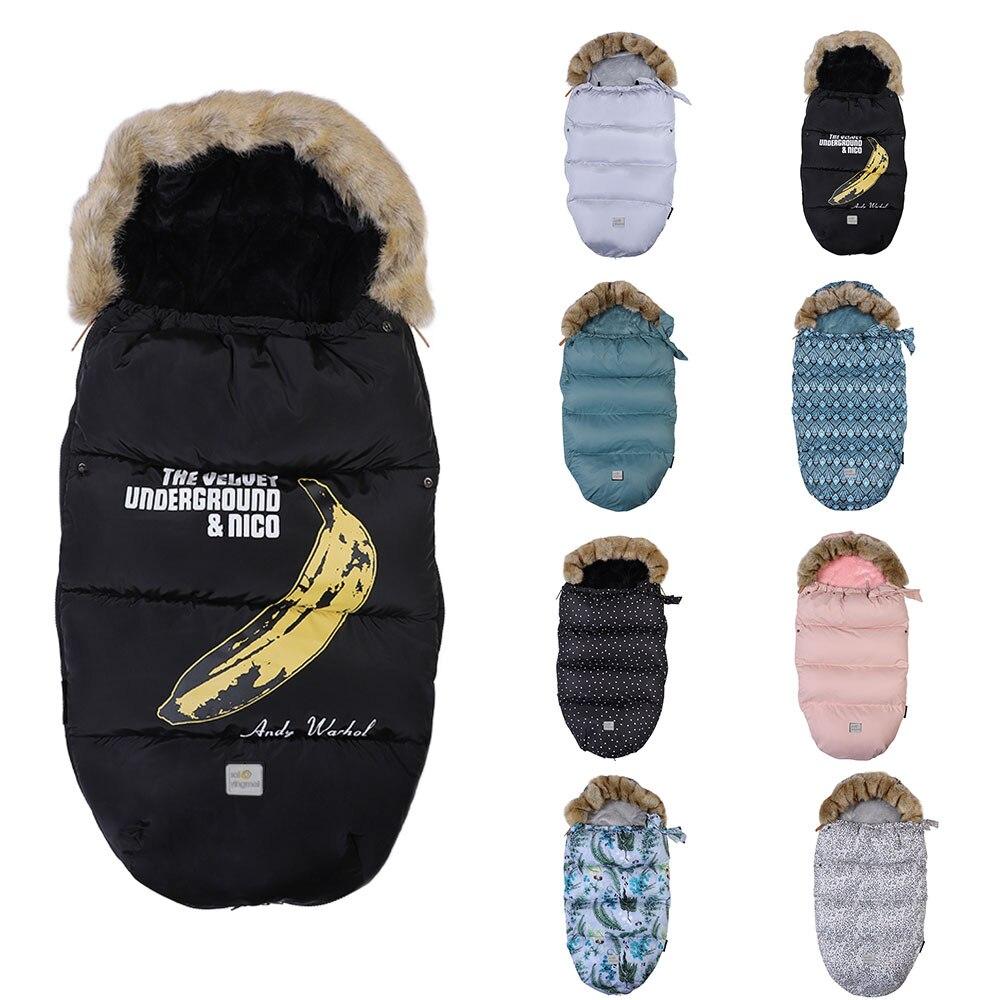 Sac de couchage bébé pour poussette lit infantile épais chaud fauteuil roulant enveloppe sacs de nuit chancelière mode nouveau-né sac de sommeil hiver
