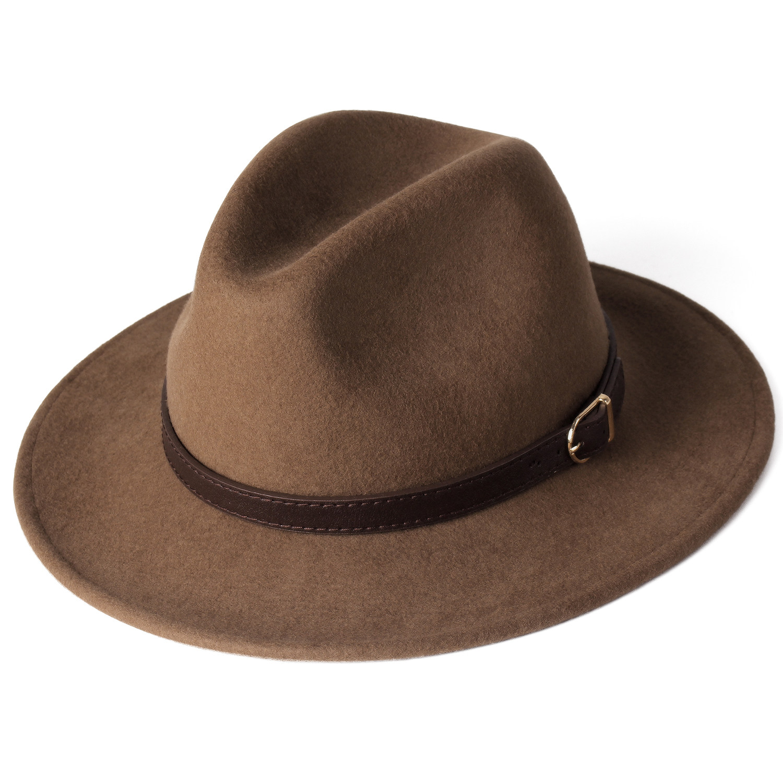FURTALK Fedora Hat for Women Men 100% Australian Wool Felt Wide Brim Hat  Vintage Jazz Fedora Hat Couple Cap Winter chapeau femme Women's Fedoras  -  AliExpress