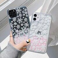 Glitter Liquido Dinamico Cassa Del Telefono di Modo Delle Ragazze Regalo di Nuovo Anno Per il iPhone 12Pro X XR XS MAX 6 7 8 più Di Natale Copertura Sabbie Mobili